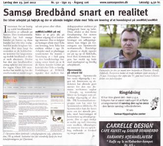 Artikel i Samsø Posten juni 2012