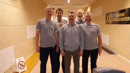 Bowlingholdet fra Samsø Bredbånd